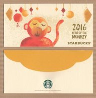 CC Chinese New Year 'STARBUCKS MONKEY - SINGE' YEAR 2016' Red Pocket CNY Chinois - Perfume Cards