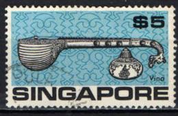 SINGAPORE - 1969 - Musical Instrument: Vina, Indian - USATO - Singapore (1959-...)