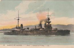Rare Cpa Bateau De Guerre Le Vérité - 1914-18
