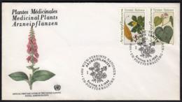 United Nations Vienna 1990 / Medicinal Plants, Plantes Medicinales, Arzneipflanzen / FDC - Heilpflanzen