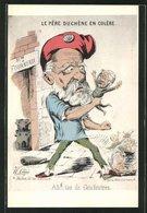 CPA Illustrateur Paris, La Commune De Paris En 1871, Exposition 1935, Le Père Duchène En Colère, Karikatur, Pariser - Politische Und Militärische Männer