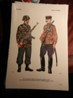 1) DIVISA MILITARE GERMANIA WAFFEN SS SERGENTE MAGGIORE-UNIONE SOVIETICA SERGENTE MAGGIORE COSACCHI-SLOVACCHIA SOLDATO - Divise