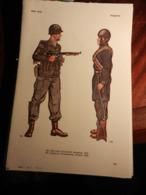 1) DIVISA MILITARE USA SERGENTE PARACADUTISTI-GIAPPONE PARACADUTISTI SOLDATOFRANCIA CACCIATORI ALPI SOLDATO- - Uniforms