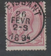 COB N° 46 Obl. PEISSANT - 1884-1891 Leopoldo II