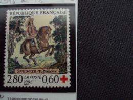 "1990-99 Timbre Oblitéré N° 2946a  -13.5 X 13   "" Tapisserie Saumur Croix Rouge 2.80+0.60     ""  Net    0.75   Photo    2 - Used Stamps"