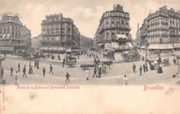 BRUXELLES - Place De La Bourse Et Boulevard Anspach - Avenues, Boulevards