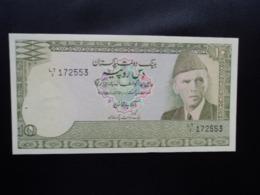 PAKISTAN : 10 RUPEES     ND 1981-1982    P 34      Presque NEUF * - Pakistán