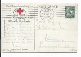 Bayern PP 38 C7-01 - 5 Pf Hupp.Wappen Rote Kreuz-Sammlung 1914 N. Düsseldorf Bedarfsverwendet - Bavaria