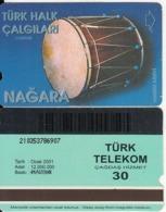 TURKEY - Turk Halk Calgilari/Nagara(30 Units, Plasteknik), 01/01, Used - Turquie