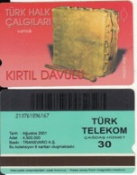 TURKEY - Turk Halk Calgilari/Kirtil Davulu(30 Units, Transvaro), 08/01, Used - Turquie