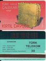 TURKEY - Turk Halk Calgilari/Kirtil Davulu(30 Units, Abacicard), 08/01, Used - Turquie