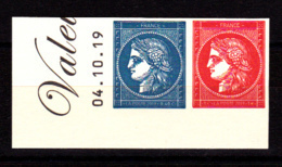 Paire 0.40 Bleu Et 1.00 € Rouge Coin Daté, Cérès Non Dentelé Provenant Du Bloc De 25 T Inclus Dans Le Livret Prestige - France