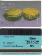 TURKEY - Turk Halk Calgilari/Kudum(60 Units, Transvaro), 08/01, Used - Turquie