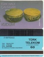 TURKEY - Turk Halk Calgilari/Kudum(60 Units, Plasteknik), 08/01, Used - Turquie