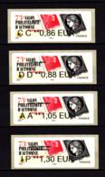 ATM LISA Nabanco, Lot 0.86, 0.88, 1.05 Et 1.30 Cèrés, Marianne L'engagée, Salon Automne 2019 - 2010-... Illustrated Franking Labels