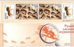 Belarus 2002 . Fauna (Ants). Booklet Of 4 Stamps: 2 X200, 2 X1000.  Michel # 443-44 ,MH 4 - Bielorussia