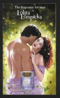 F - Carte à Rabat 3x6 - Lempicka For Men  - Perfume Card - USA - Cartes Parfumées