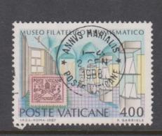 Vatican City S 828 1987 Inauguration Of Philatelic And Numismatic Museum.400 Lire Used - Vatikan