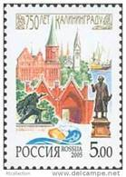 Russia 2005 Kaliningrad 750th Anni Architecture Monuments Building Regions Geography Place Stamp Michel 1271 Scott 6913 - 1992-.... Federation