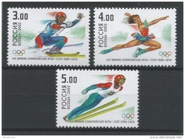 Russia 2002 Winter Olympic Games Salt Lake City Mountain Skiing Figure Skating Ski Jumping Sports Stamps Michel 956-958 - 1992-.... Federation