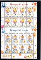 Belarus 2002 .EUROPA 2002 (Circus). 2 Sheetlets, Each Of 8.  Michel # 447-48  KB - Bielorussia