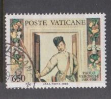 Vatican City S 854 1988 400th Death Anniversary Of Paolo Veronese .650 Lire Used - Vatican