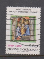 Vatican City S 865 1989  Feast Of The Visitation 600th Anniversary. 550 Lire Used - Vatican