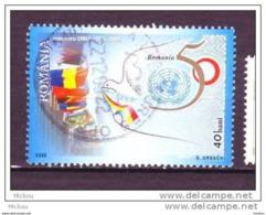 ##28, Roumanie, Romania, Nations-unies, United Nations, Colombe, Dove, Oiseau, Bird, Drapeau, Flag, Paix, Peace - 1948-.... Repúblicas