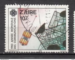 ##28, Zaire, Télécom, Satellite, Uit - 1980-89: Oblitérés