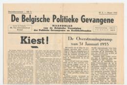 Twee Exemplaren Van De Belgische Politieke Gevangene 1952 En 1953 - Revistas & Periódicos
