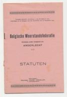 Boekje Statuten Van De Belgische Weerstandsfederatie - Anderlecht 1945 - Altri
