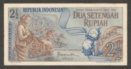 Indonesia 2.5 2 1/2 Rupiah 1960 AUNC To UNC - Indonesia