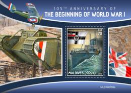 Maldives 2019   World War I  S201910 - Maldiven (1965-...)