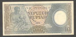 Indonesia 10 Rupiah 1963 AU - Indonesia