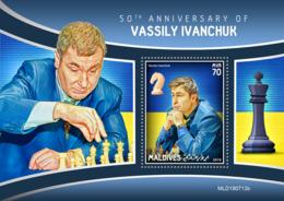 Maldives 2019  Vassily Ivanchuk , Chess  S201910 - Maldives (1965-...)