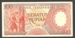 Indonesia 100 Rupiah 1958 XF+ - Indonesia