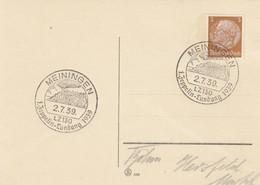 Blanko Sonderstempelbeleg 1939: Meiningen: 1. Zeppelin-Landung 1939 - Alemania
