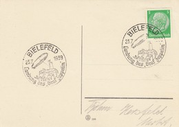 "Blanko Sonderstempelbeleg 1939: Bielefeld: Landung Des ""Graf Zeppelin"" - Alemania"