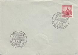 Blanko Sonderstempelbeleg 1939: Meiningen: 1. Zeppelin-Landung 1939 - Allemagne