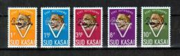 """Sud Kasai - 20C/24C - Léopard - """"Pour Les Rapatriés"""" - Surcharge Inversée - Inverted Overprint - 1961 - MNH - Sud-Kasaï"""