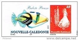 Nouvelle Caledonie Timbre Personnalise Prive Dessin Bunel Poisson Baliste Picasso Cagou Ramon 2014 Neuf Unc - Neufs