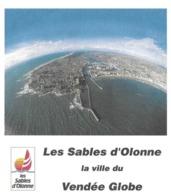 LES SABLES D OLONNE VENDEE - VOILE, VENDEE GLOBE 2001, TABARLY, PAP ENTIER POSTAL FLAMME ILLUSTREE, VOIR LES SCANNERS - Segeln