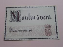MOULIN à VENT Bourgogner ( N° 328 - Wetterwald ) Etiket / Etiquette / Label ( > Photo > DETAIL ) ! - Bourgogne