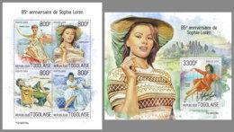 TOGO 2019 MNH Sophia Loren Cinema Kino Film M/S+S/S - OFFICIAL ISSUE - DH1935 - Cinéma