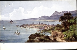 Lithographie Zadar Zara Kroatien, Panorama - Croatie