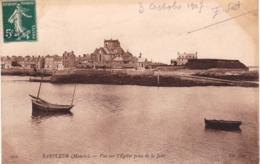 50 - Manche -  BARFLEUR - Vue Sur L Eglise Prise De La Jetée - Barfleur