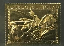 Chad Tchad  Gold Foil 1971 Napoleon Perf - Tschad (1960-...)
