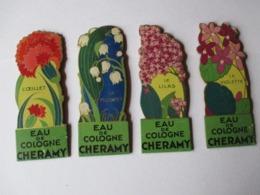 EAU DE COLOGNE CHERAMY - 4 Présentoires Superbes Des Années 1930 / 1950 - Voir Les 15 Photos - Plaques En Carton