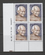 FRANCE / 2019 / Y&T N° 5346 ? ** : Mahatma Gandhi X 4 - Coin Daté 20149 08 06 - TD 201 (-) - Hoekdatums