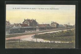 CPA Etaples, La Gare Et Ses Dependances - Etaples